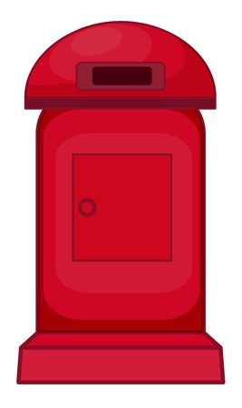 illustration of a mailbox on a white background Vector