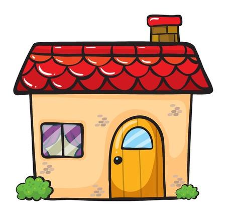 casa de campo: Ilustraci�n de una casa sobre un fondo blanco