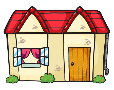 cartoon new: illustration of a house on a white background