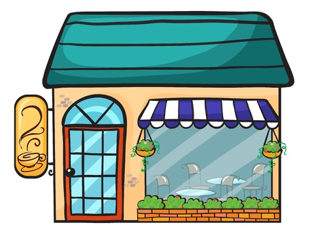 illustration of a coffee shop on a white background Stock Vector - 16733895