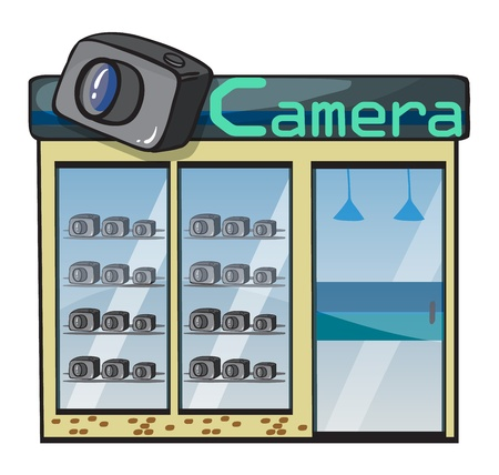 illustration of a camera shop on a white background Stock Vector - 16733898