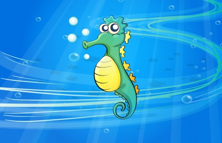 Illustration of a sea horse in the sea Stock Vector - 16930198