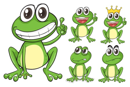Illustration of frogs on a white background Vector