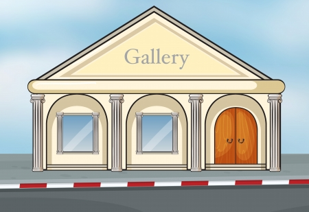 Illustration of a gallery house Stock Vector - 16930247