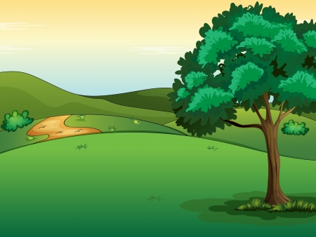 Illustration of a beautiful landscape Vector