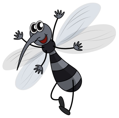 Illustration of a mosquito on a white background Stock Vector - 17024611