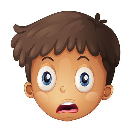 Illustration of a face of a boy on a white background Stock Vector - 17024661