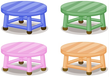 stools: Illustration of four colored stools on white Illustration