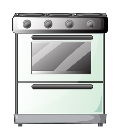 gas stove: Illustration of a gas stove on a white background
