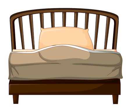 Illustration of a bed on a white background Stock Vector - 17024626