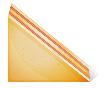 chutney: Illustration of a sandwich on a white background