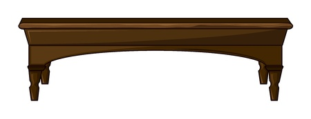 side: Illustration of a table on a white background Illustration