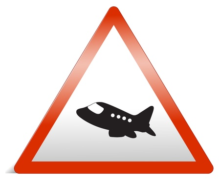 Illustration of a traffic sign of airplane on a white background Stock Vector - 17031035