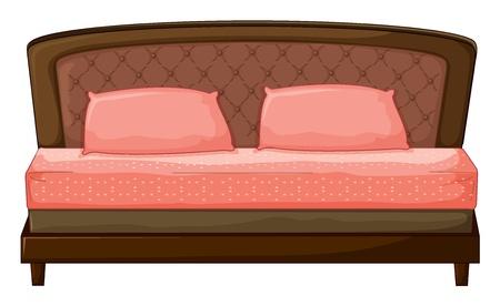 sosie: Illustration d'un canap�-set sur un fond blanc Illustration