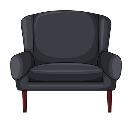 piece of furniture: Illustration of an armchair on a white background Illustration