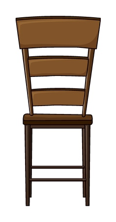 Illustration of a wooden chair on a white background Stock Vector - 17036847