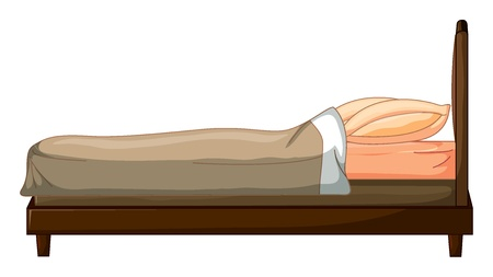 mattress: Illustration of a bed on a white background
