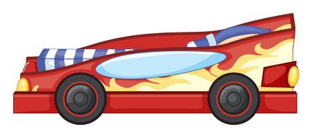 sleeping car: Illustration of a toy car on a white background