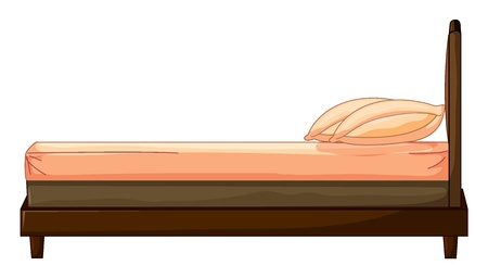Illustration of a bed on a white background Stock Vector - 17036871