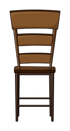 Illustration of a chair on a white background Stock Vector - 17046686