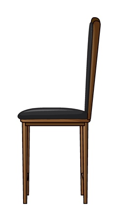 Illustration of a chair on a white background Stock Vector - 17046683
