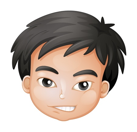 Illustration of a face of a boy on a white background Stock Vector - 17046679