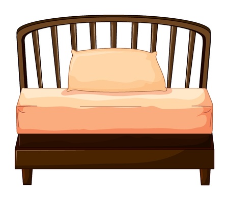 Illustration of a bed on a white background Stock Vector - 17046688