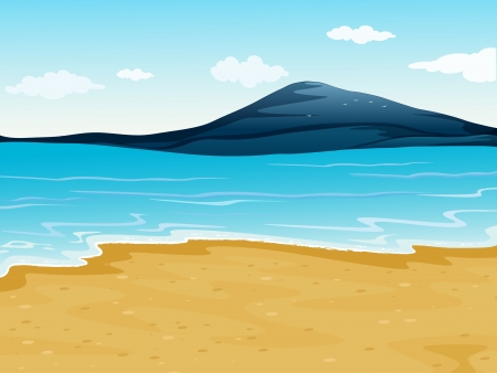 Illustration of a sea shore in a beautiful nature Stock Vector - 17046719