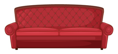 Illustration of a red sofa on a white background Stock Illustration - 17046710
