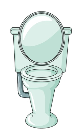 flush toilet: Illustration of a comod on a white background