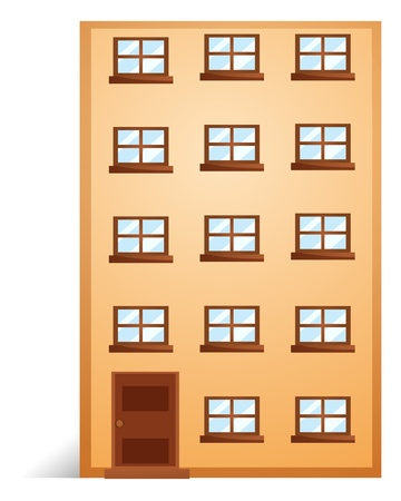 apartment building: Illustration of a apartment on a white background