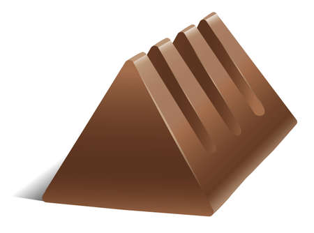 minature: illustration of a chocolate on a white background