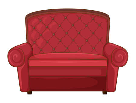 Illustration of a cushion chair on a white background Vector