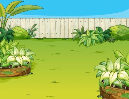 Illustration d'un beau paysage dans une nature