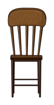 Illustration of a chair on a white background Stock Vector - 17082480