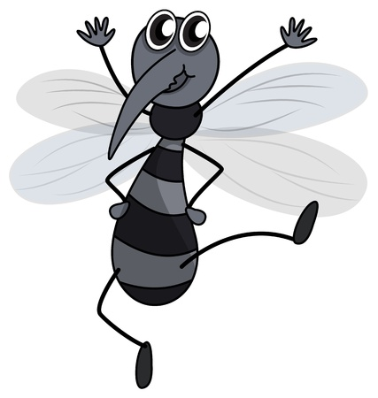 Illustration of a mosquito on a white background Stock Vector - 17082472