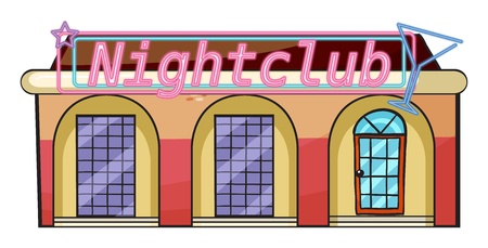 Illustration of a nightclub on a white  background Vector