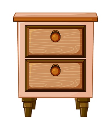 illustration of a table with drawer on a white background Vector