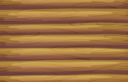 log cabin: Illustration of a bamboo background