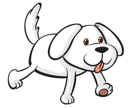 Illustration of a smiling dog on a white background Vector