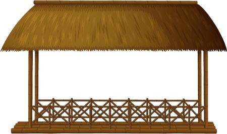 Ilustración de un Shande de madera sobre fondo blanco