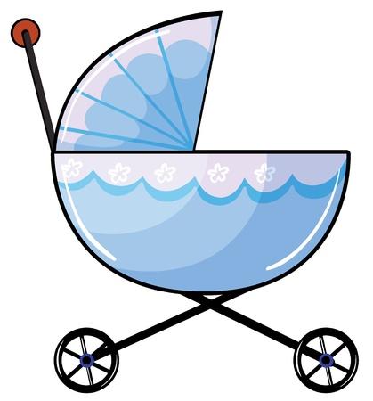 pram: Illustration of a baby pram on a white background Illustration