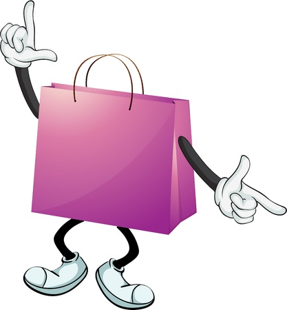 Illustration of a purple bag on a white background