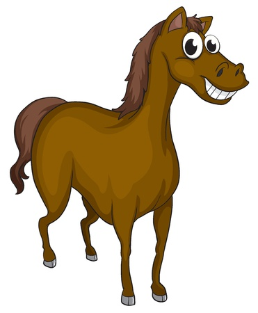 Illustration of a smiling horse on a white background Stock Vector - 17100459