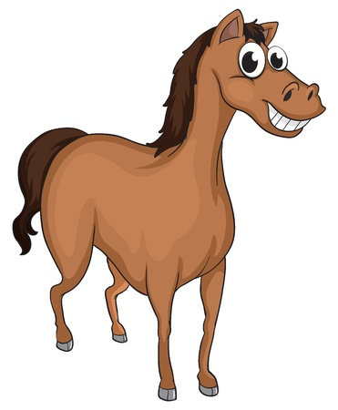 Illustration of a smiling horse on a white background Vector