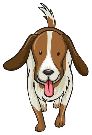 Illustration of a dog on a white background Stock Vector - 17100304