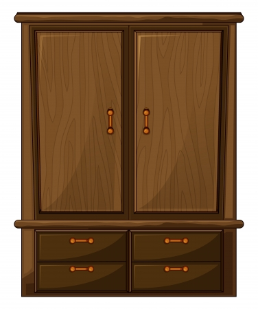 Illustration of a wardrobe on a white background Stock Vector - 17104777