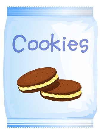 Illustration of a pack of cookies on a white background Stock Vector - 17161570