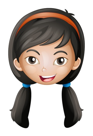 Illustration of a face of a girl on a white background Stock Vector - 17161615