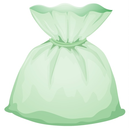 Illustration of a light green pouch on a white background Vector